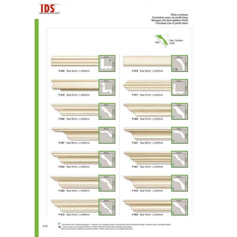 corniche profil lisse ids innovation decor staff. Black Bedroom Furniture Sets. Home Design Ideas
